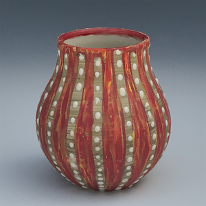 Red Urchin Vases