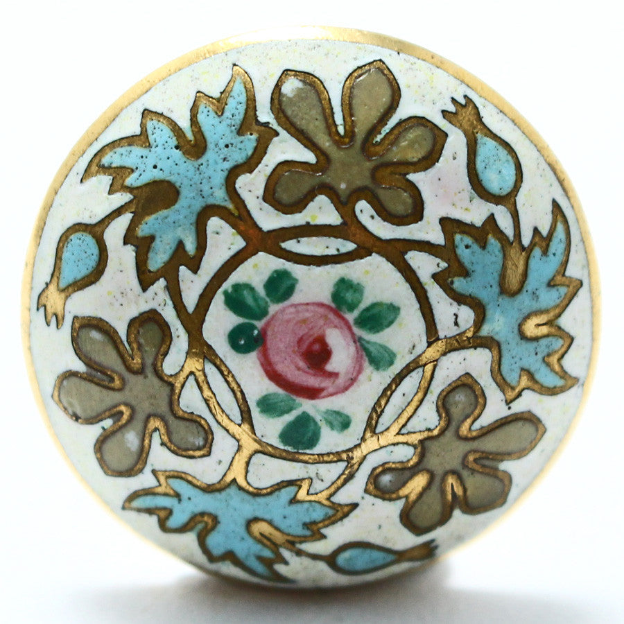 Antique French Champleve Enamel Button