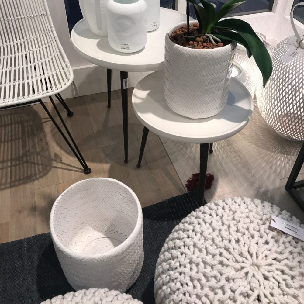 Beautiful textures give interest to the all white display at the Paris Maison & Objet show