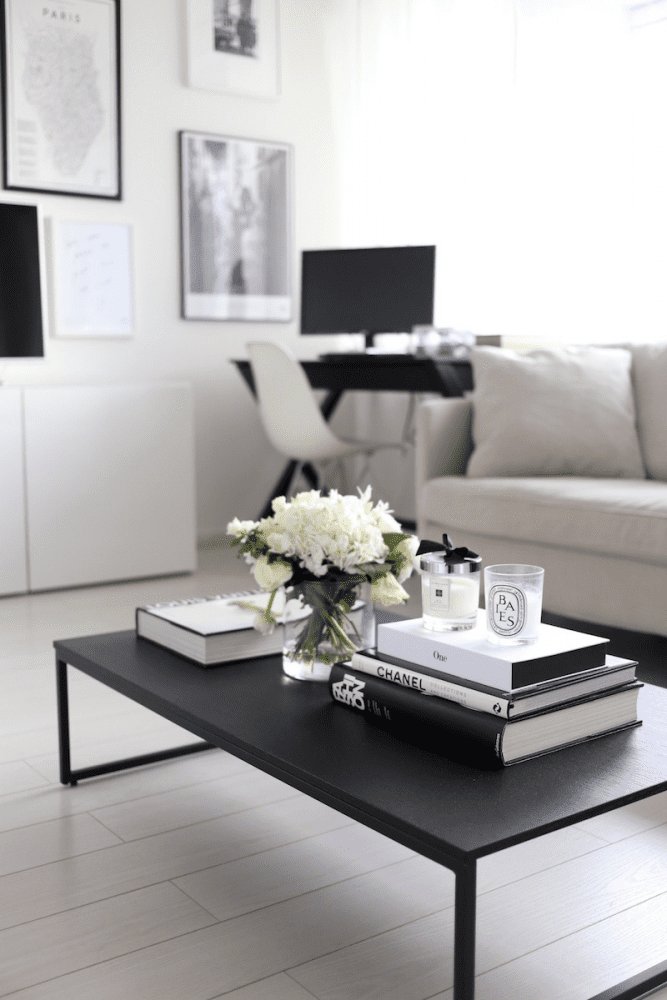 Monochrome Coffee Table Decor