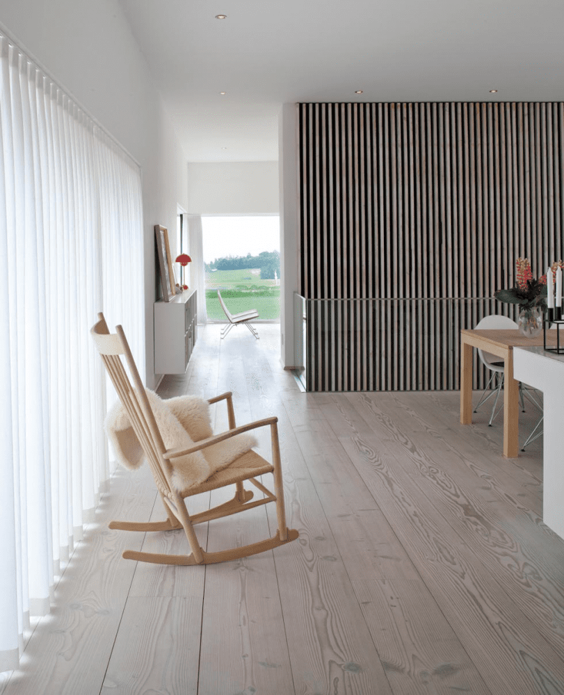 Wooden floors and cladding in a Scandinavian Home