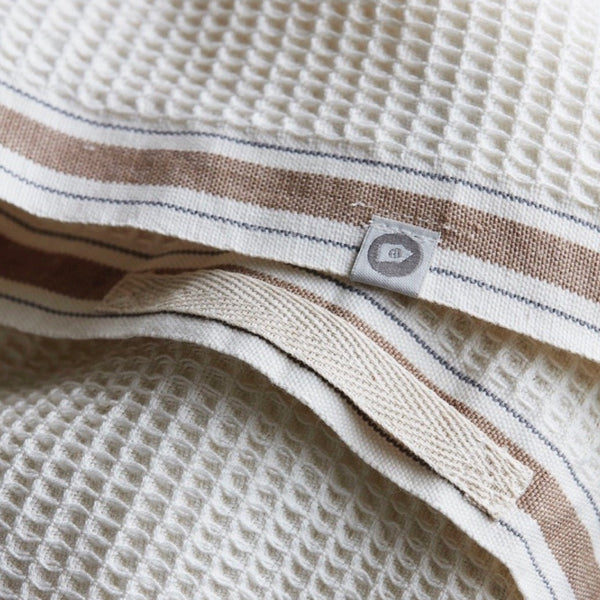 Set of 2 Waffle Tea Towels Beige
