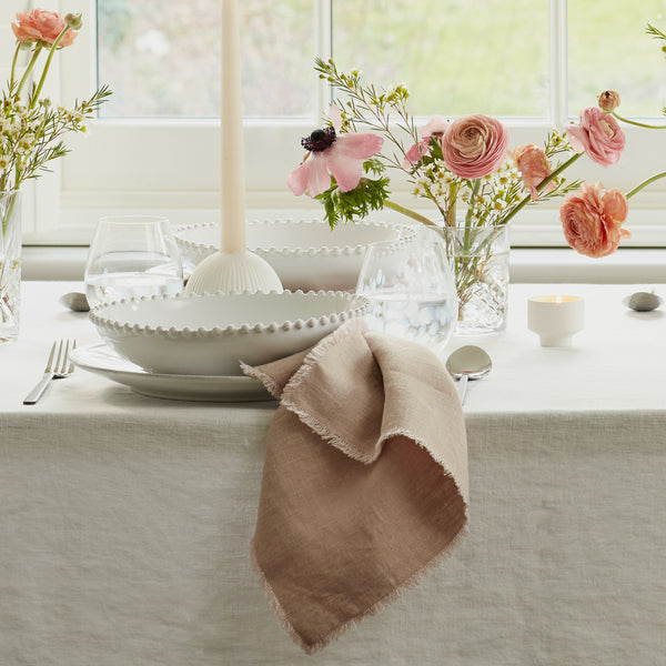 Set of 2 Blush Linen Napkins