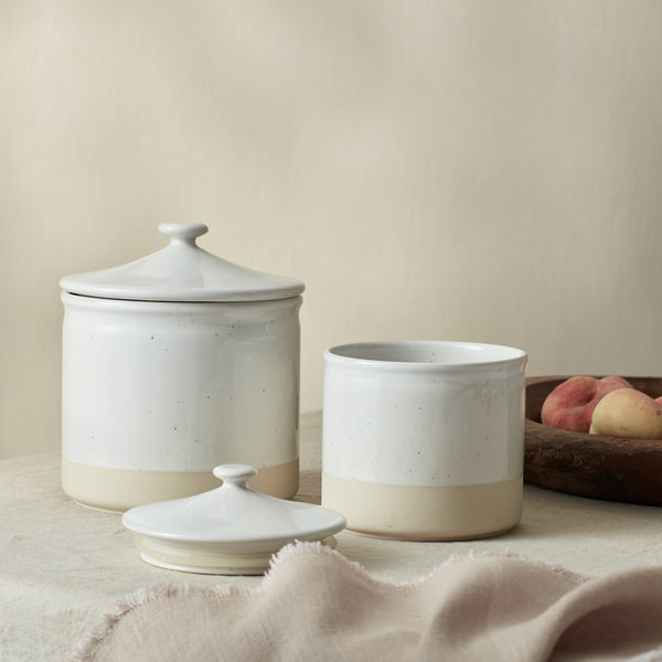 Cream Ceramic Canisters