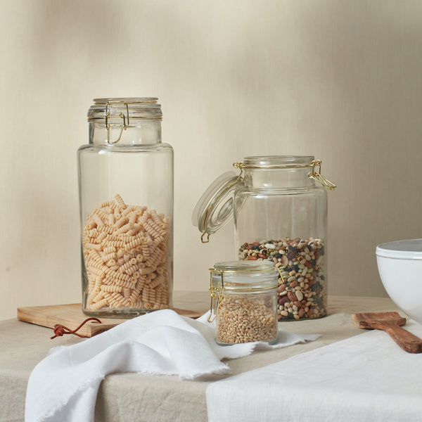 Glass & Brass Storage Jars