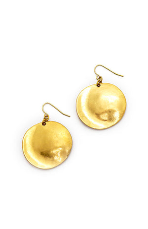 Gold-Tone Casual Metals Disc Drop Earrings