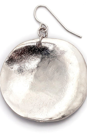 Silver-Tone Casual Metals Disc Drop Earrings