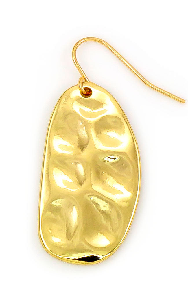 GOLDTONE TEARDROP EARRING