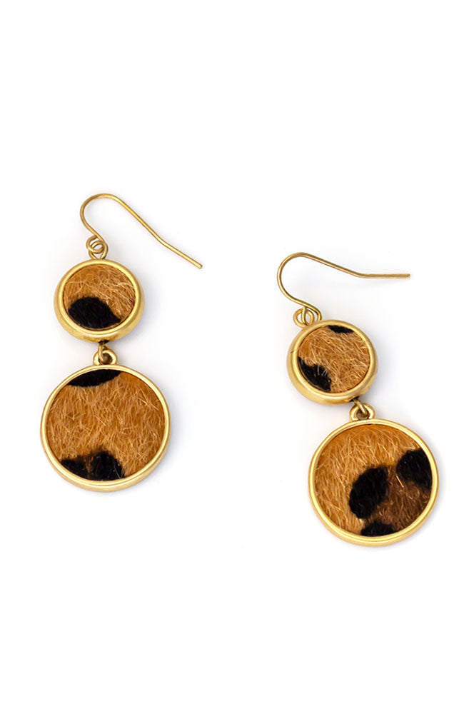 ANIMAL DOUBLE DROP EARRINGS