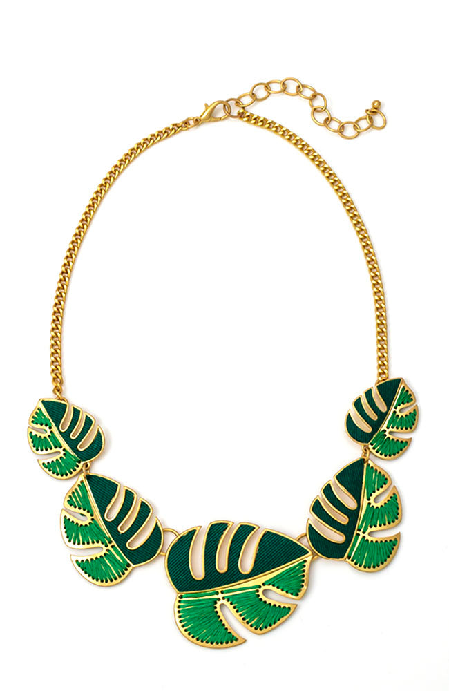 5 PART LEAF STATION NECKLACE
