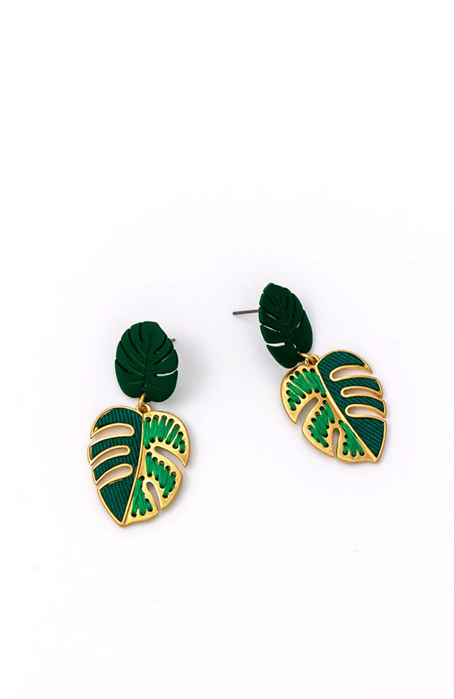 DOUBLE DROP LEAF EARRINGS