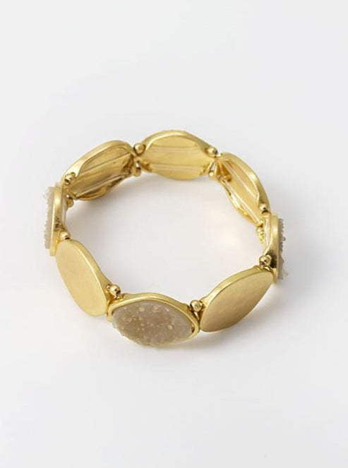 Stretch Bracelet in gold tone