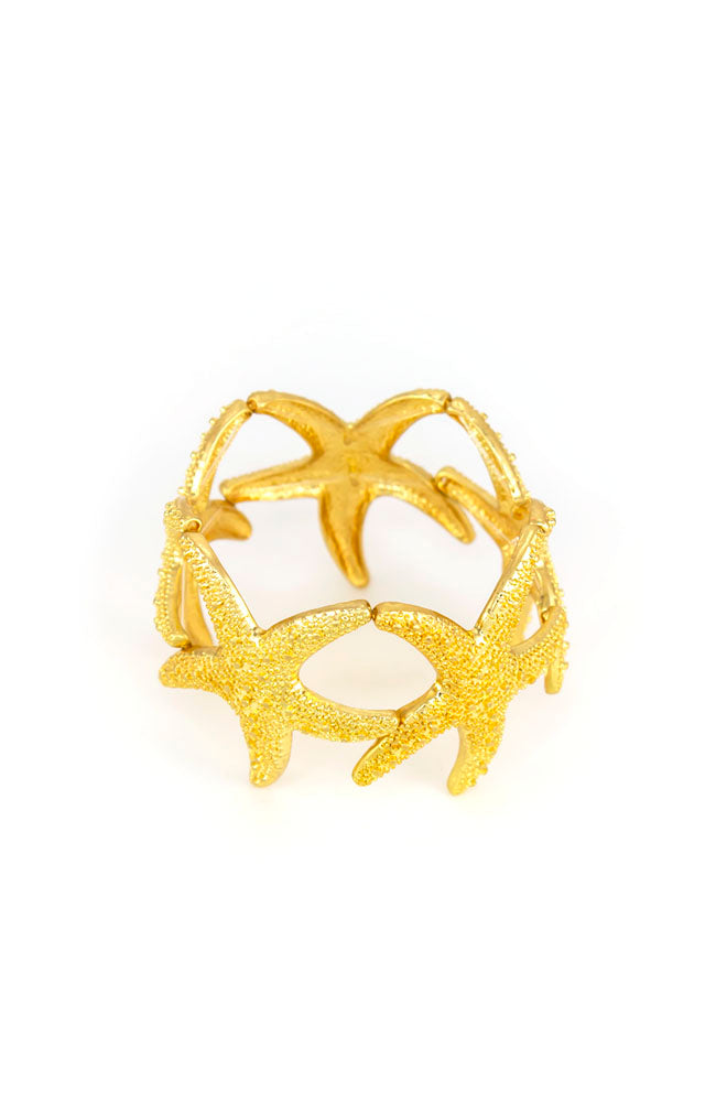Goldtone Star Fish Bracelet