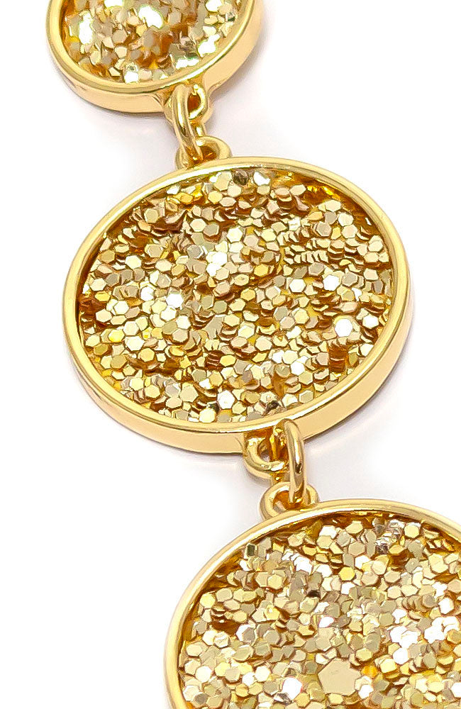 Goldtone Glitter collar necklace