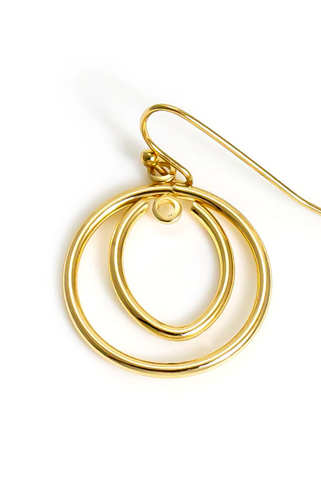 Goldtone Drop Hoops