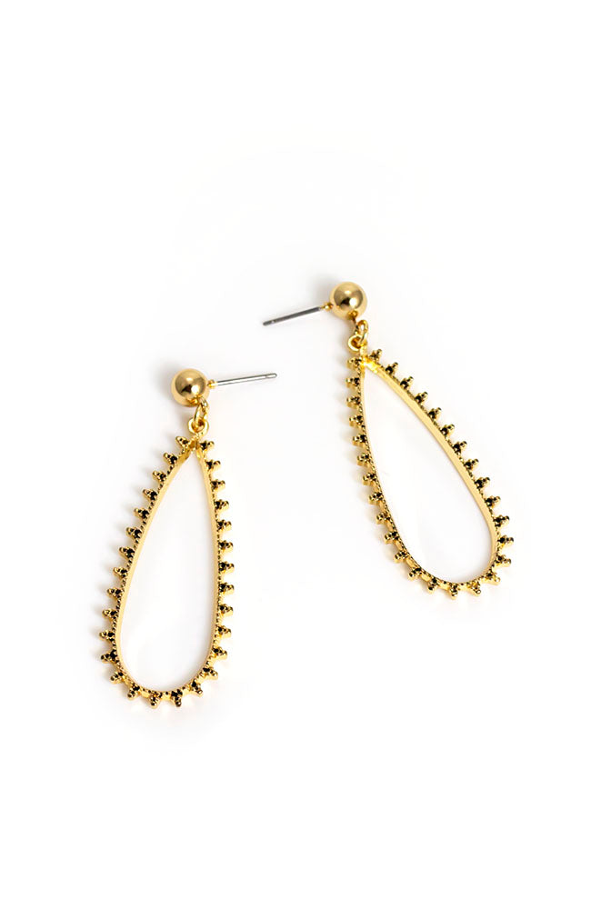 Goldtone Beaded Drop earring