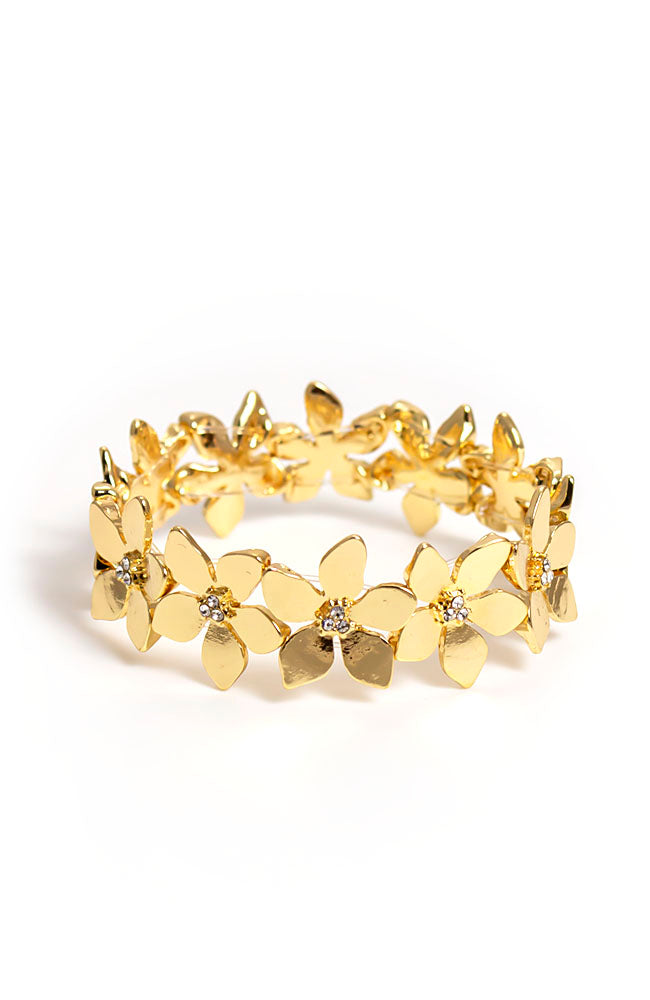 Flower Goldtone Bracelet
