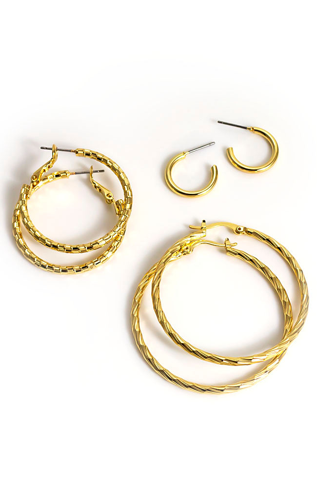 Trio Hoop Earrings
