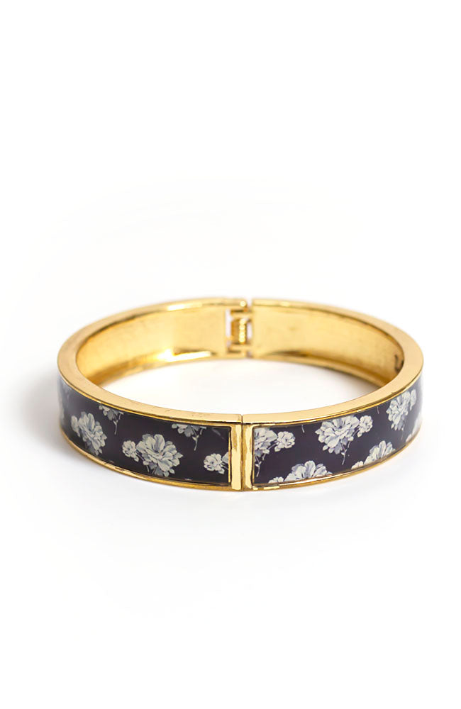 Printed Blue bangle Bracelet