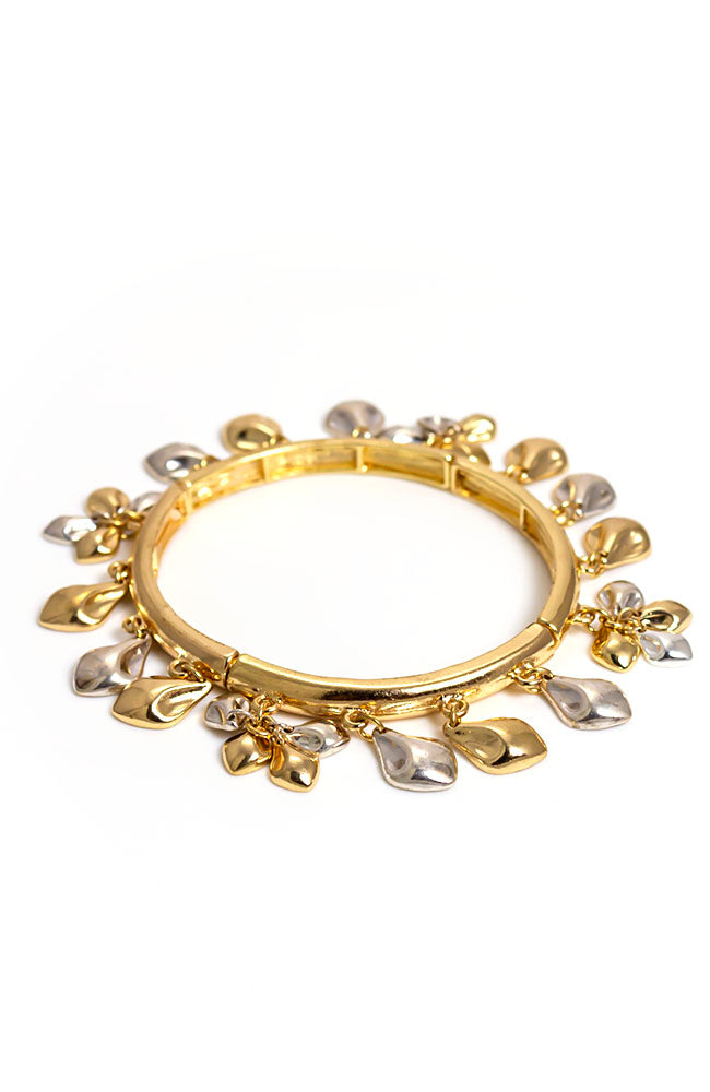 Shaky two-tone Stretch Bracelet
