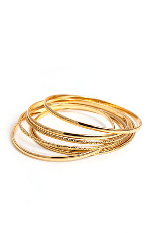 Multi Goldtone Bangles
