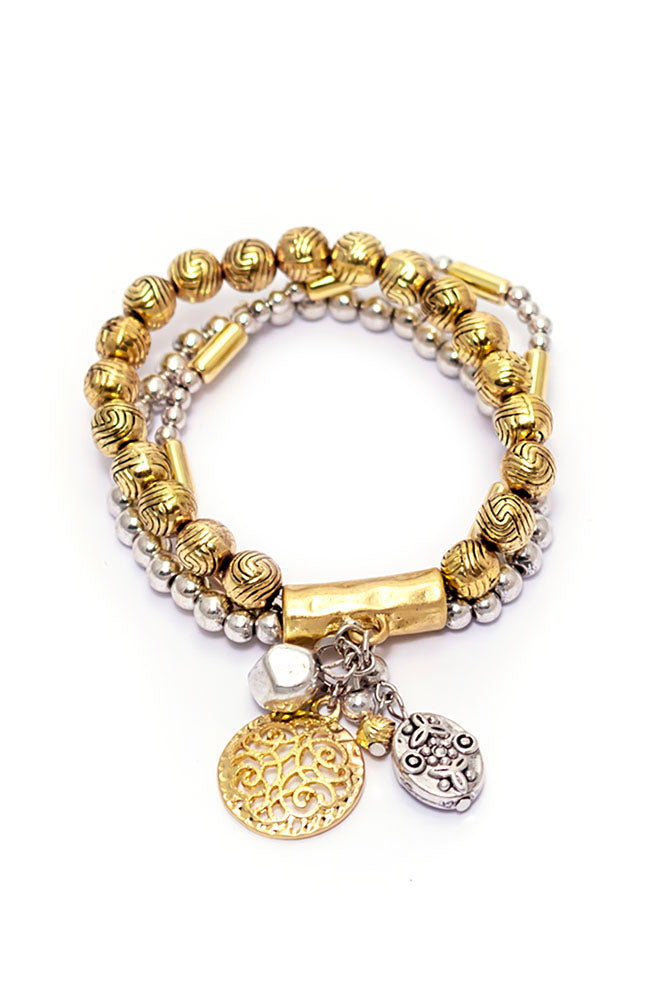 Two -Tone Dream Weaver Bracelet Set