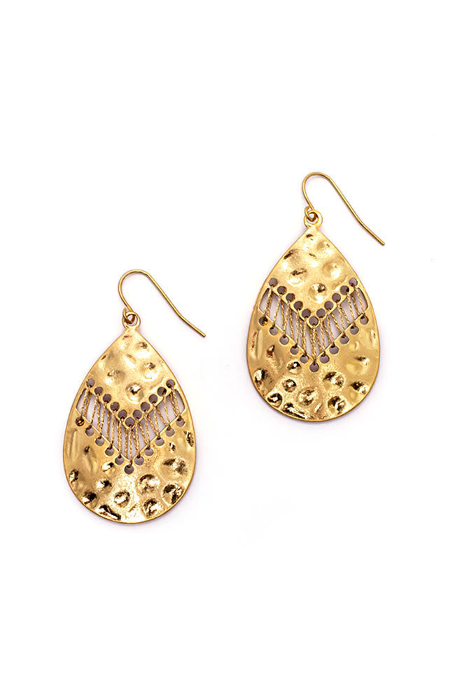 Gold Drop teardrop Earring