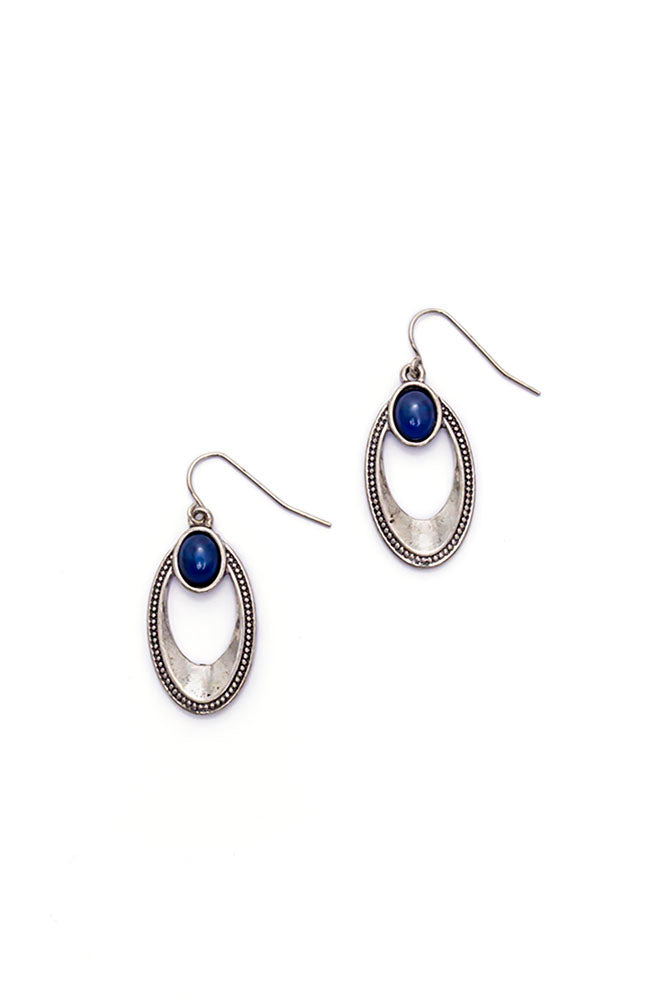 Color Splash Oval Drop Earrings