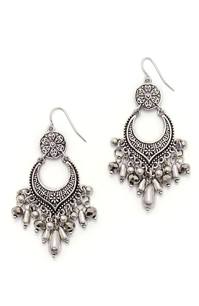 Silver-Tone Chandelier Drop Earrings