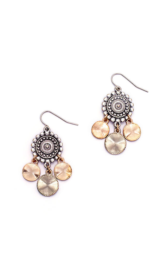 2-Tone Small Chandelier Earrings
