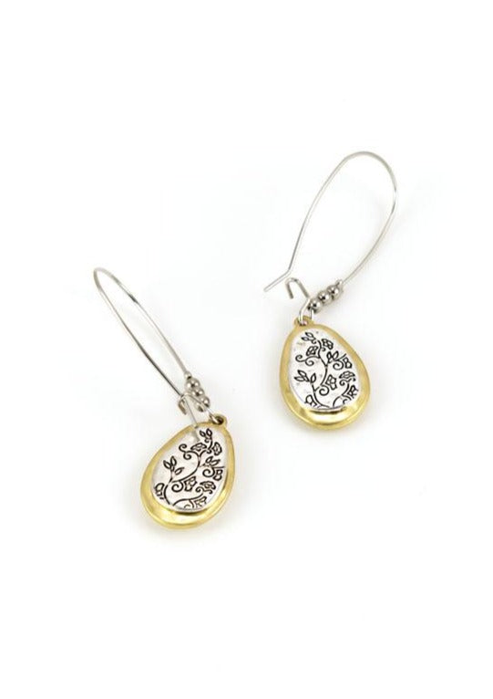Two tone earwire earrings