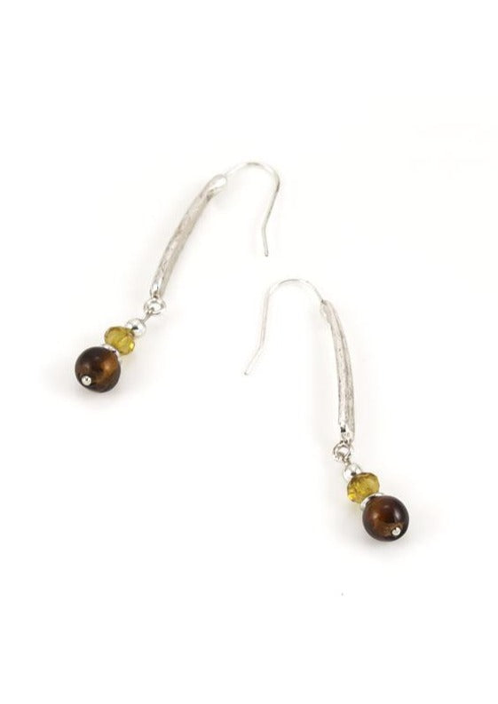 Stick drop earrings