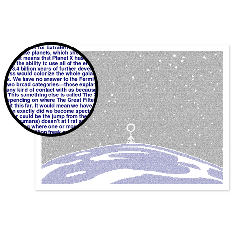 "The Fermi Paradox Article Poster (By Litographs) (18""x24"")"