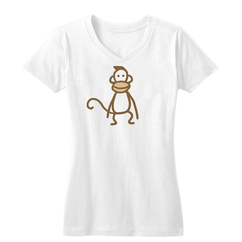 Instant Gratification Monkey Women's V-Neck Tee