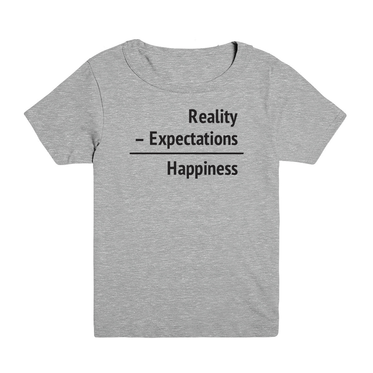 Happiness = Reality - Expectations Kid's Tee