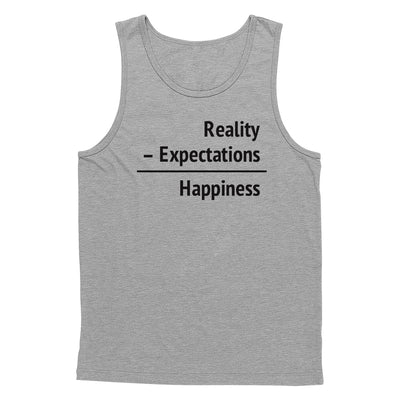 Happiness = Reality - Expectations Tank Top