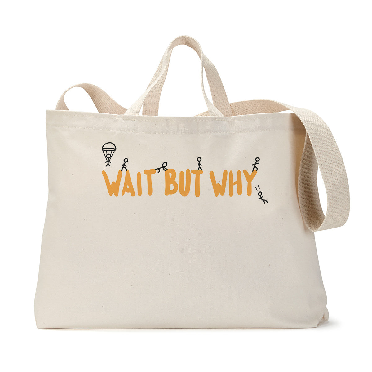 Wait But Why Logo Tote Bag