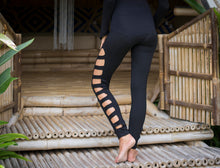 Striped Cut Out Leggings l Bamboo Yoga Pants l Boho Yoga Pants l Sexy Festival Leggings l Workout Leggings l Vegan Clothing