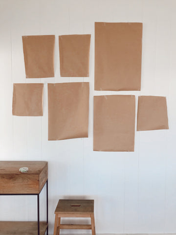 Paper templates hanging art guide