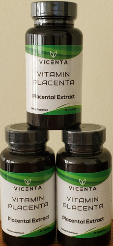 Vitamin Placenta 3-pack from Vicenta Placental Extract Placenta Pills Dietary Supplement