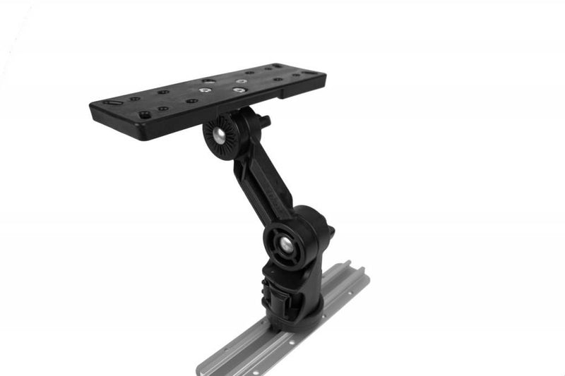YakAttack Rectangular Fish Finder Mount with Track Mounted LockNLoad Mounting System