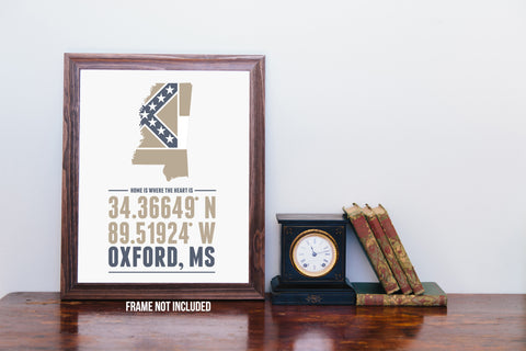 Print, Framed Print, and Canvas | Mississippi Home is Where the Heart is