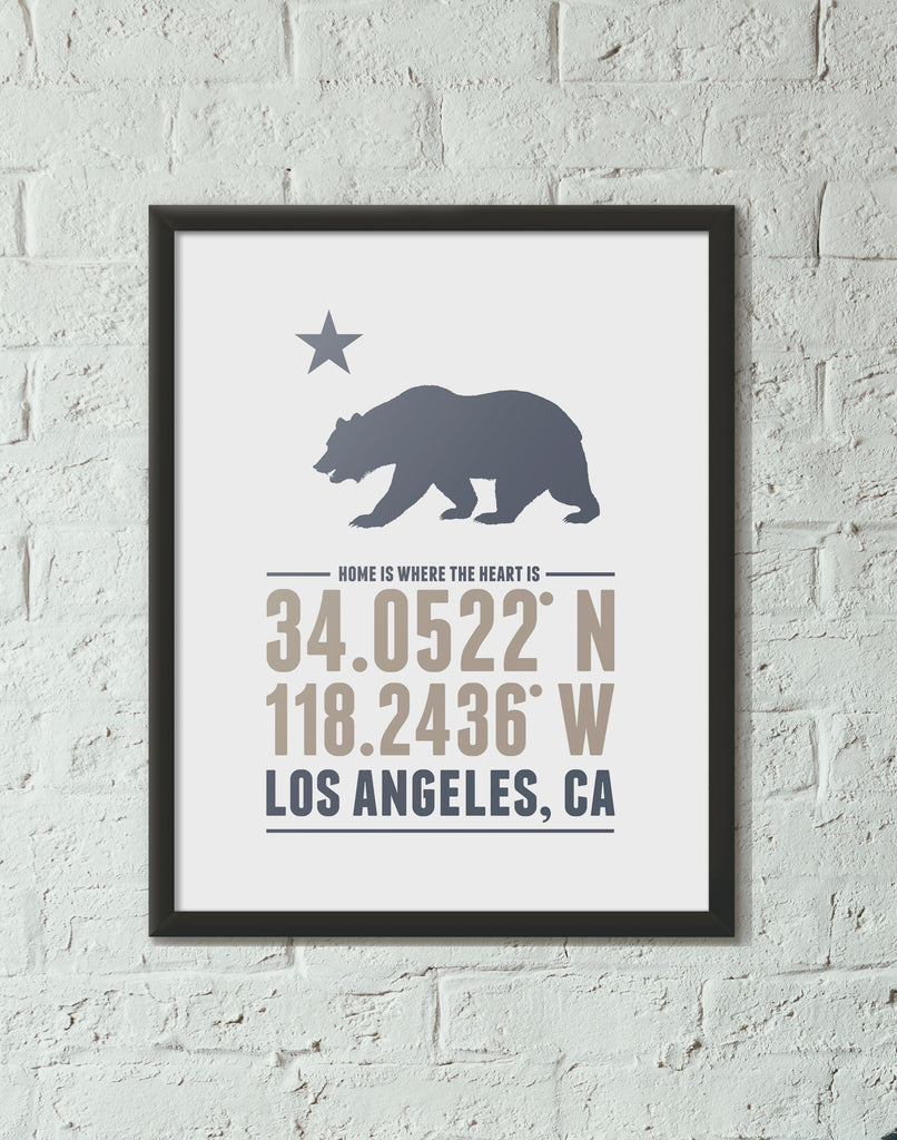 Print, Framed Print, and Canvas | California Home is Where the Heart is