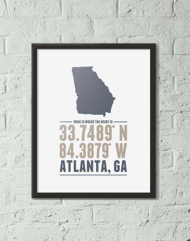 Print, Framed Print, and Canvas | Georgia Home is Where the Heart is