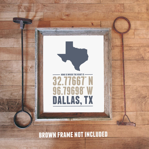 Print framed print and canvas texas home is where the heart is