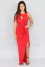 Load image into Gallery viewer, Twist Front Maxi Red Dress - Ann Et Craig