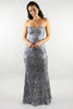 Holly Strapless Sequin Lace Gown - Ann Et Craig