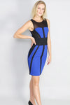 Johanna Contrast Panel Pencil Mini Dress - Ann Et Craig
