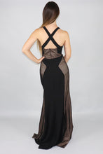Load image into Gallery viewer, Jemma V-Neck Lace Panelled Gown - Ann Et Craig