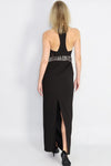 Kalinka Beaded Panel Halter Gown - Ann Et Craig
